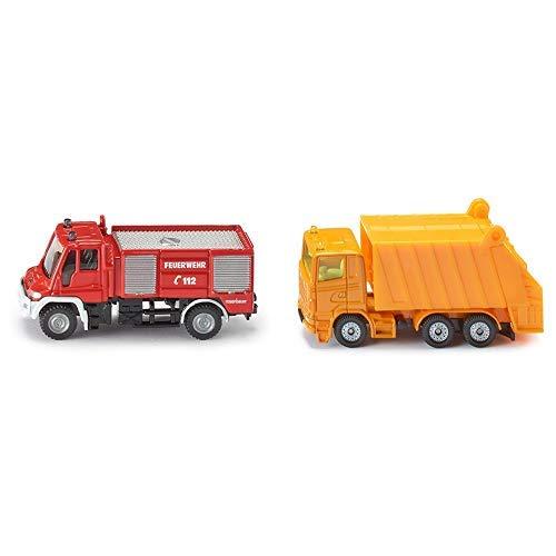 Siku 1068 - Unimog Feuerwehr (farblich sortiert) &  0811 - Müllwagen