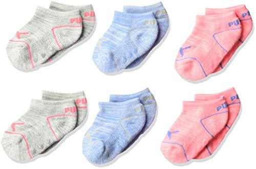Puma - Calcetines para bebé (6 unidades), Rosado brillante, 0-12 Meses