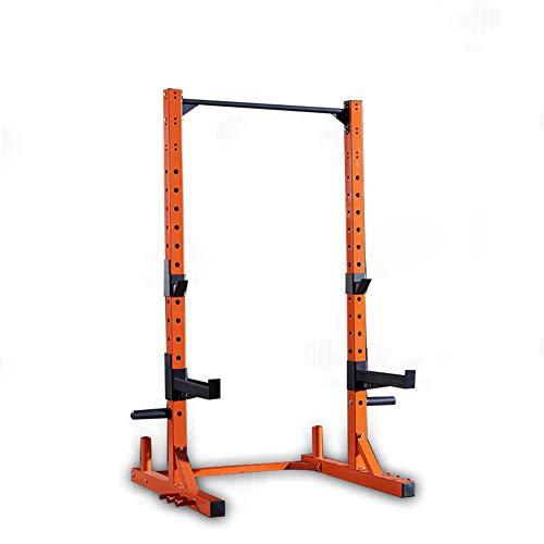 ZYTT Soporte Rack Sentadilla Musculacion, Jaula De Potencia Fuerza Gym Multifuncion Jaulas De Fuerza Sentadillas Soporte Soporte Mancuernas Y Discos Pesas Sentadillas,Naranja