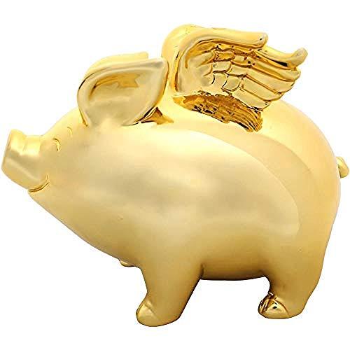 Sculpturen Kleine Gouden Varken Dier Hars Spaarvarken Decoratie Woondecoratie Geschenken