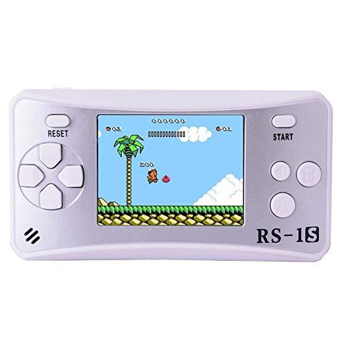 Xyfw 2.5LCDD Consola De Juegos Portátil para Niños Construido En 168 Viejos Juegos Arcade Retro del Juego Los Jugadores Boy Regalo De Cumpleaños,Blanco