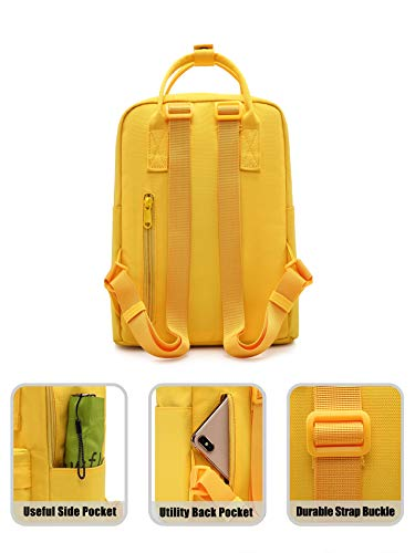 BESTIE 12 Cute Mini Small Backpack Purse Travel Bag, Yellow