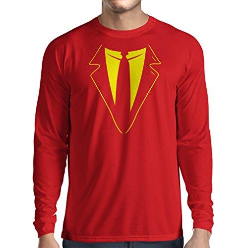 N4591L Camiseta de Manga Larga The Big Boss (X-Large Rojo Multicolor)
