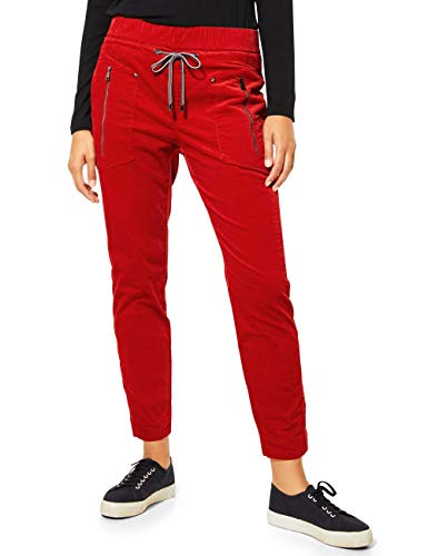 Street One Damen 373473 Cordhose im Style Bonny Hose, Flaming red, W44/L28