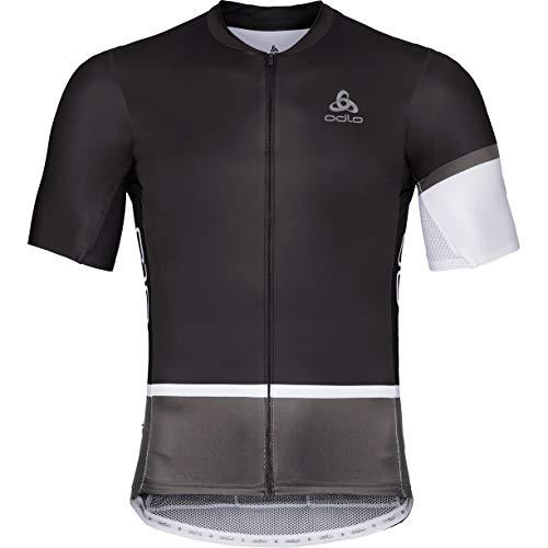 Odlo Herren Trikot Shirt s/l full zip KAMIKAZE AERO, black/Graphite grey, S