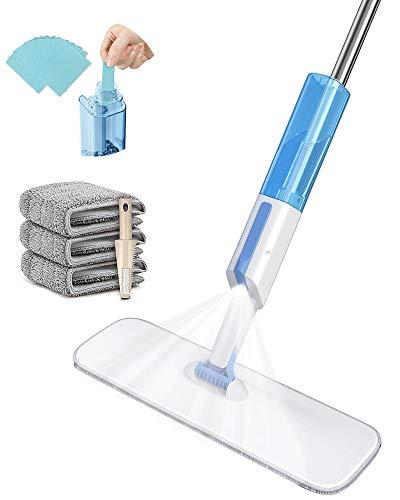 IceFrog Wischer Bodenwischer mit sprühfunktion Sprühwischer Spray Mop Sprühdüse Wischer mit Wassertank und Mikrofaserbezug*3 Bodenreiniger*30