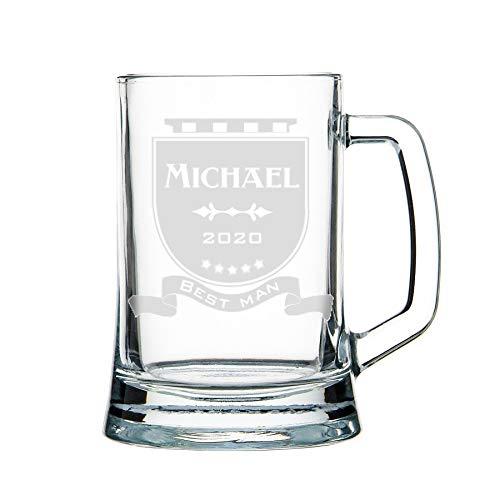 Bicchieri birra, Boccale birra - personalizza con incisione, vetro pesante 1 kg (3) classico
