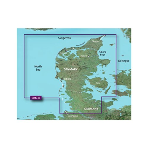 New Garmin VEU474S - Alborg to the Eider - SD Card