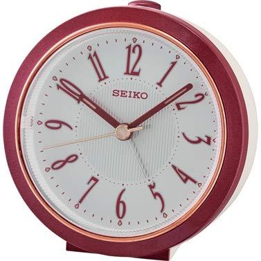 Seiko QHE180R - Despertador de noche con barrido silencioso de segunda mano
