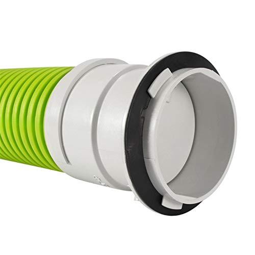YDONGIIU Lüftungsöffnungen, Inline-Kanal-Lüfter-Rohrverbinder, Luftlüftungs-Abgaslüfter-Lüftungsventil-Snap-On-Rohrlüfter-Plug-In-Verschlussluftdämpfer 75mm