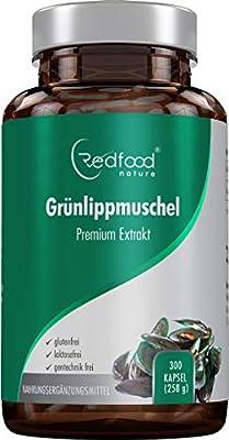GrÜnlippmuschel Premium Kapseln 1500 Mg GrÜnlippmuschelpulver Pro Portion Hochdosiert Xxl Dose 300 Kapseln 5 - 3 Monatsvorrat Ohne Magnesiumstearate Made In Germany Von Redfood