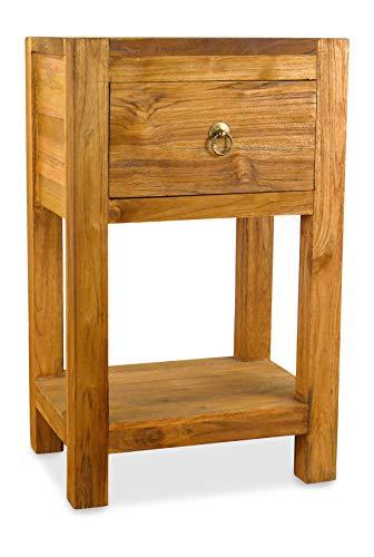 livasia Java Kommode   Nachttische aus Teakholz   Kleine Massivholzkommode der Marke Asia Wohnstudio   Kommode   Nachtschrank, Nr.361