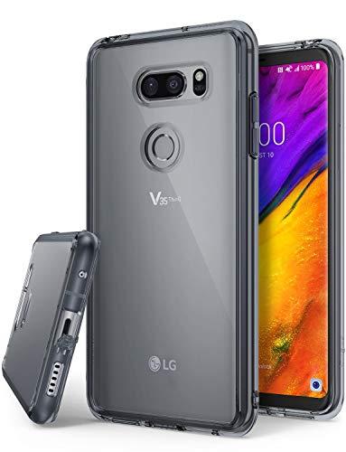 Ringke Fusion Kompatibel mit LG V35 ThinQ Hülle, Kratzschutz Handyhülle für LG V35 ThinQ - Smoke Black