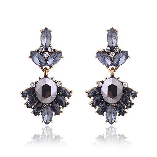 JINGM 17 Couleurs Vintage Antique Or Transparent Strass Boucles d'oreilles pour Le Cadeau De Noël des Femmes Femmes
