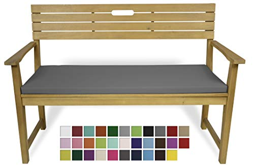 Rollmayer Bankkissen Bankauflage Sitzkissen Bankpolster Auflage für Bänke in Haus und Garten Kollektion Vivid, 1 Stück (Grafit 33, 120x40x4cm)