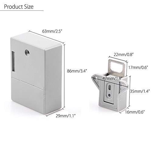 Batterie RFID-IC-Karten-Sensor-Kabinett-Fach Intelligente Smart Lock DIY Invisible Hidde Digital Lock ohne Perforate Loch Schlüsselloses Vorhängeschloss,gepäckschloss (Color : B)