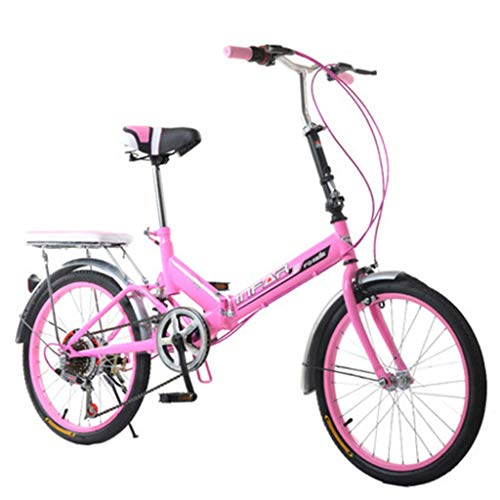 Paseo Bicicleta Plegable para Mujer Bicicleta De 6 Velocidades 20 Pulgadas con...