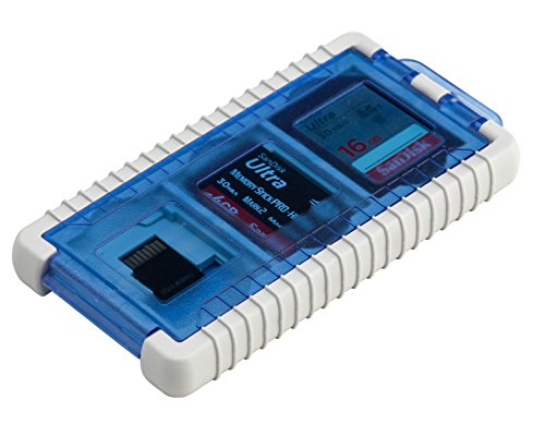 Gepe 3853-02 CardSafe Mini for SD, micro SD, Multimedia Card, XD, & Memory Stick Duo (Ice Blue)