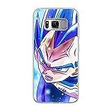 CHATERE Coque souple en silicone TPU pour Samsung Galaxy S8-Vegeta-Goku Bleu 2