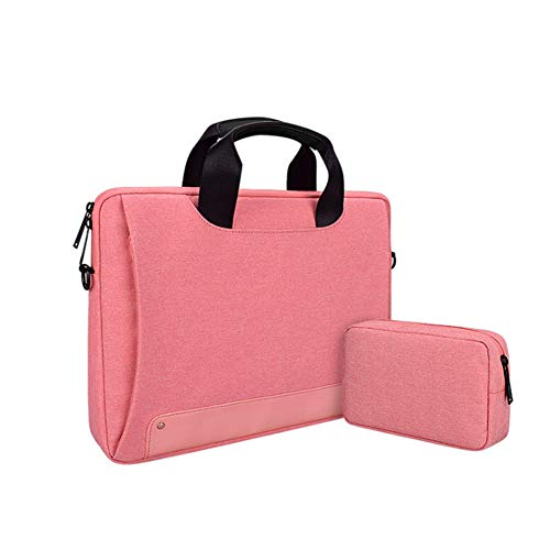Laptop Tasche 13.3-15.6 Zoll Notebooktasche Aktentasche Tasche Wasserabweisend Bussiness Laptoptasche für Frauen und Männer(mit kleiner Tasche),Rosa,15.4