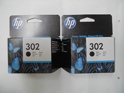 HP - Cartuccia d'inchiostro originale F6U66AE, HP 302, HP302, per HP Deskjet 2130, ca. 190 pagine,/,5%, colore: nero (02) 2x Tintenpatrone - Black