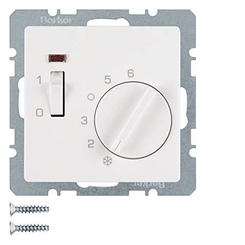 Berker Raumtemperaturregler 20316089 mit Öffner Q.1 Raumthermostat 4011334316060