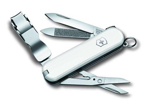 Victorinox Unisex– Erwachsene Klapp und Taschenmesser Nail Clip NailClip 580 (8 Funktionen, Nagelknipser, Nagelfeile, Pinzette) Weiss, 66 mm