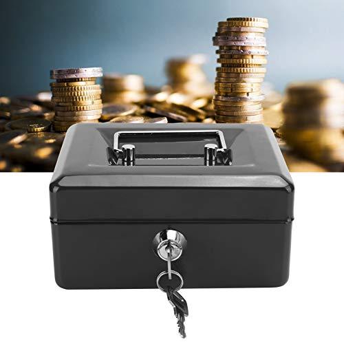 GUSTAR Cajas de Seguridad, Caja de Efectivo de Material de Acero de Calidad para Oficina para Viajes(Black)