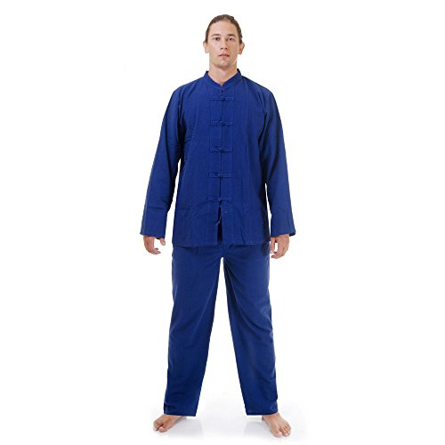 Princess of Asia Kung Fu, Tai Chi & Meditations Anzug Baumwolle Größe L Blau