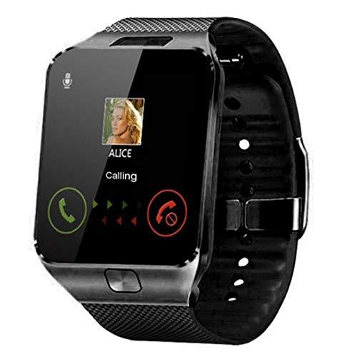 xiaoxioaguo Reloj inteligente para hombre con Bluetooth y reloj deportivo digital, color negro