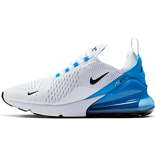 Nike Air MAX 270, Zapatillas de Atletismo Hombre, Multicolor (White/Black/Photo Blue/Pure Platinum 000), 40.5 EU