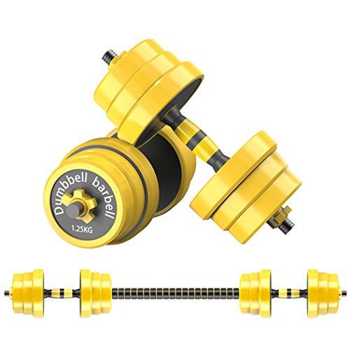 Joychoic Dumbbells-Dumbbell Set-Adjustable Dumbbells-Weights Dumbbells Set with Connecting Rod-Exercise & Fitness Dumbbells 2-in-1 Set-Non-Slip Neoprene Hand66LBS…