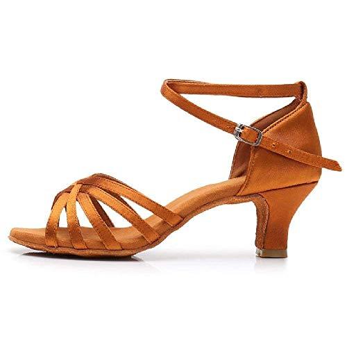 Ballsaal Neue Professionelle Latin Dance Schuhe für Frauen/Mädchen/Damen Tango & Salsa Hochhackige Indoor Dancing Satin/PU Weiß Rot