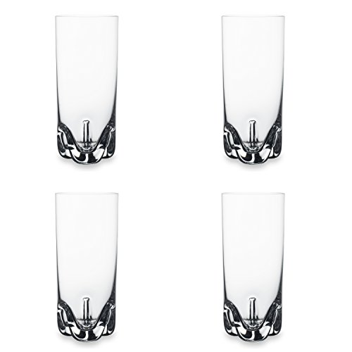 Bohemia Cristal 093 006 142 Longdrinkbecher circa 300 ml aus Kristallglas, 4-er Set