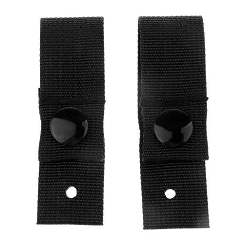 CUTICATE 2 Stücke Mich M88 ACH Helm Universal Brille Haltegurte Befestigungsband - Schwarz