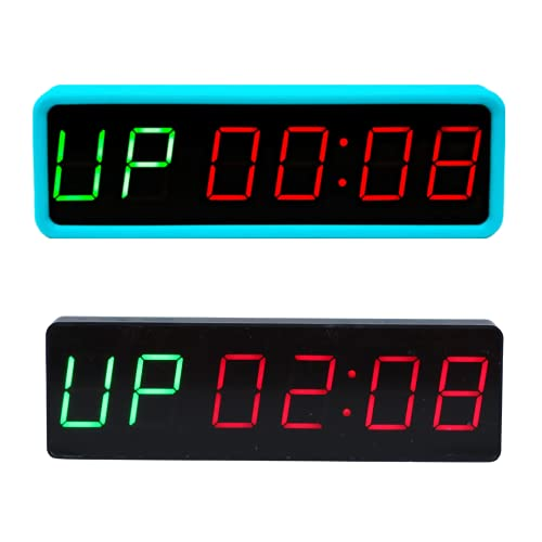 Gym Timer, Shot Timer, Workout Wall Clock, Portable for Fitness Exercise, Big, Countdown Clock, Garage Gym, Home Accessories, Training, Interval, Digital LED Display, Stopwatch, Sports, Magnetic