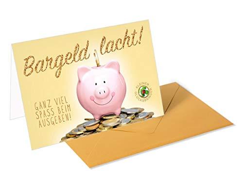 Gouden cadeaukaart, wenskaart, geldbriefje, spaarvarken
