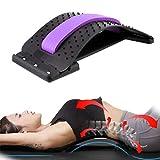 Adult Waist Fitness Device Women/Men Home Gym Arched Back Massager Portable Back Acupressure Equipment (Purple)