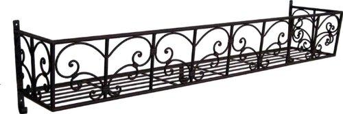 HFG Blumen-Balkon aus Metall B 110 cm Wandkorb Balkonkasten Blumenkasten