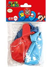amscan 9901999 6 latexballonger Super Mario Bros, färgglada