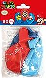 Amscan 10022491 9901999 Lot de 6 ballons en latex Super Mario Bros