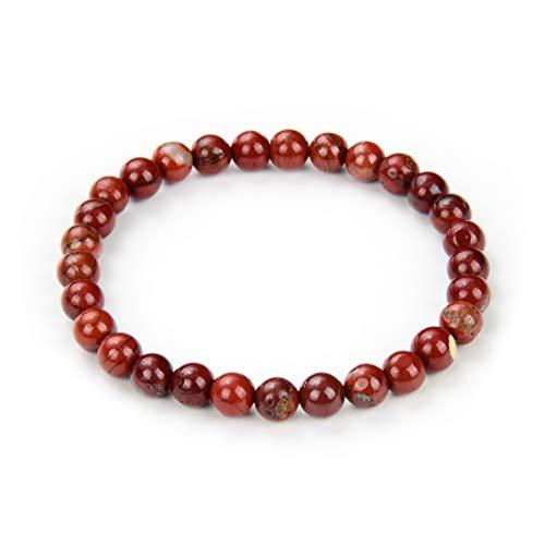 Adabele Natural 7' 7.5 inch Stretchy Gemstone Bracelet Chakra Gems Stone 6mm (0.24 Inch) Bead Healing Crystal Quartz Women Men Girls Gifts