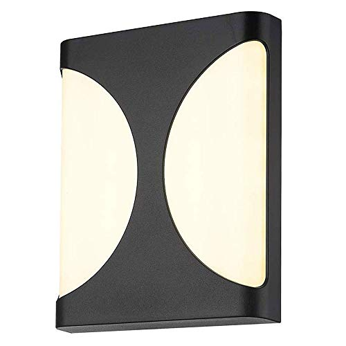 ZTKGB LED buitenwandlamp up down-licht muur buiten 8W LED 400 lumen 3000K warm wit black afwerking