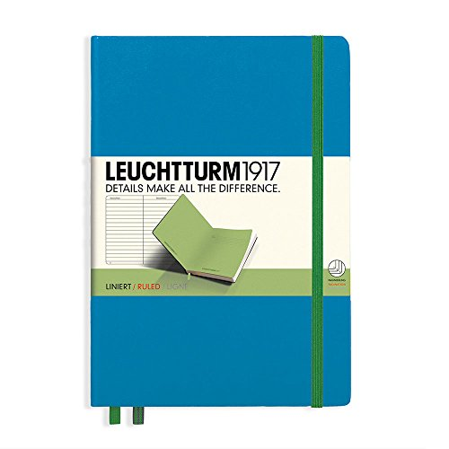 LEUCHTTURM1917 Bicolor Special Edition - Medium A5 Ruled Hardcover Notebook (Azure-Lime) - 249 Numbered Pages