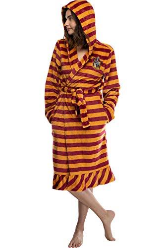 Harry Potter Juniors' Gryffindor túnica de lana de felpa con capucha de rayas (MD)