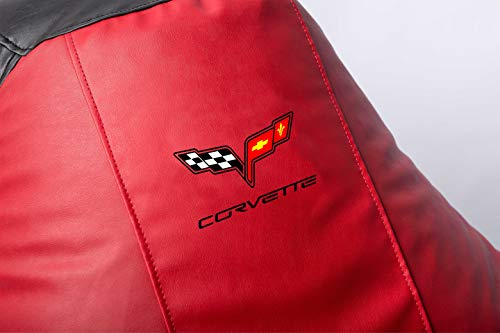 Chevrolet Corvette Supercar Comfortable Kids Adult Game Outdoor Indoor Lounge Chair Cover + Inner Bag (Without Beans) Red