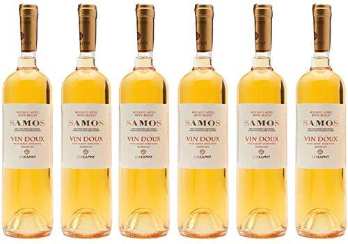 "6x 0,75l Samos""Vin Doux"" Likörwein weiß süß P.D.O. | 15% Vol. | Samos Wein | + 1 x 20ml Olivenöl""ElaioGi"" aus Griechenland"
