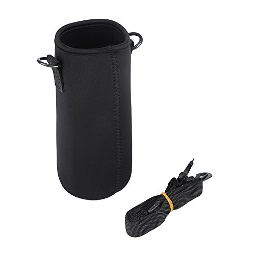 Yosoo Water Bottle Sleeve Portable Neoprene Water Drink Carrying Pouch Bag with Shoulder Strap for Outdoor Camping Hiking Fishing(#3)