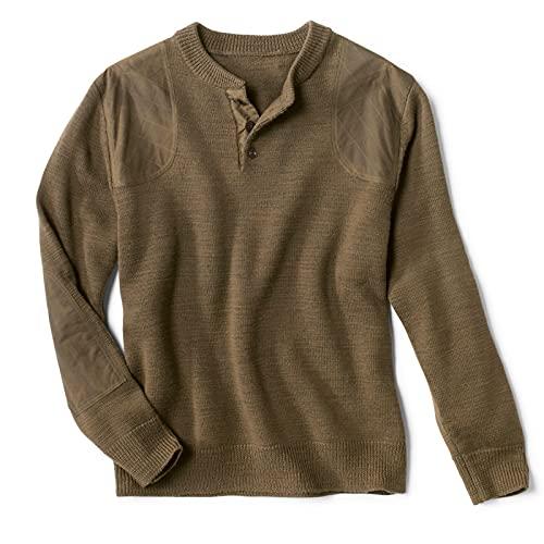Orvis Men's Stevensons Sweater Dark Olive