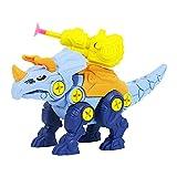 Shuliang Juguete educativo de dinosaurio para niños, triceratops/tiranosaurus/brachiosaurus juguetes de construcción desmontables, regalos para niños y niñas juguetes de construcción